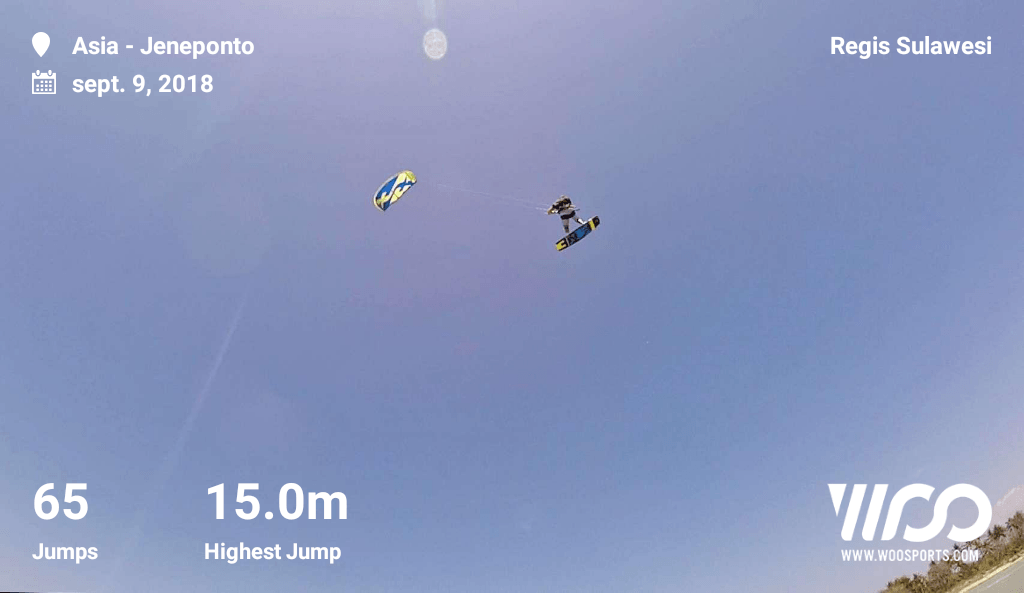 WOO Indonesia kitesurfing record – BIG AIR